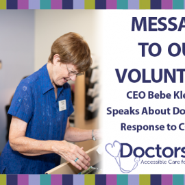Message to Our Volunteers